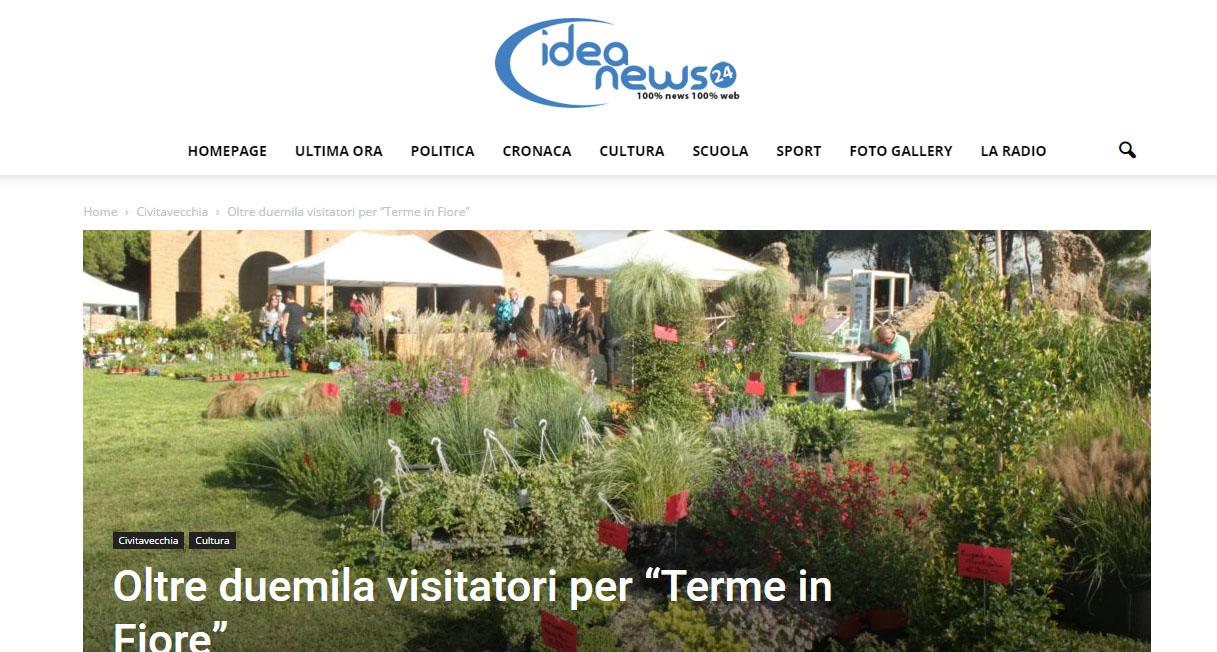 """I edizione – IDEA NEWS – """"Oltre duemila visitatori per Terme in Fiore"""""""