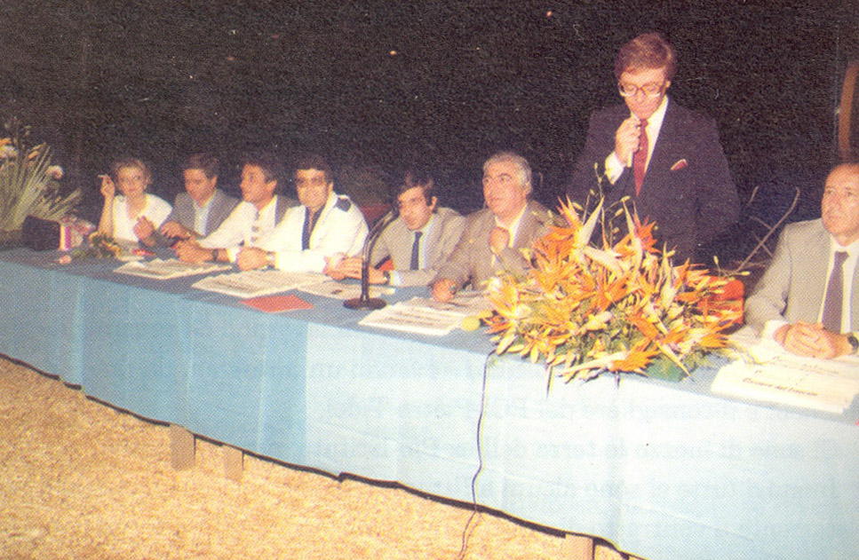 Inaugurazione allo Sporting Club della Fiera del fiore