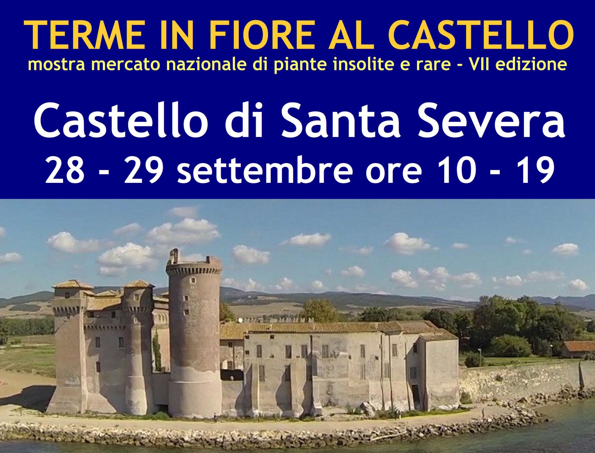 """Santa Severa: il 28 e 29 settembre torna al Castello """"Terme in fiore"""""""