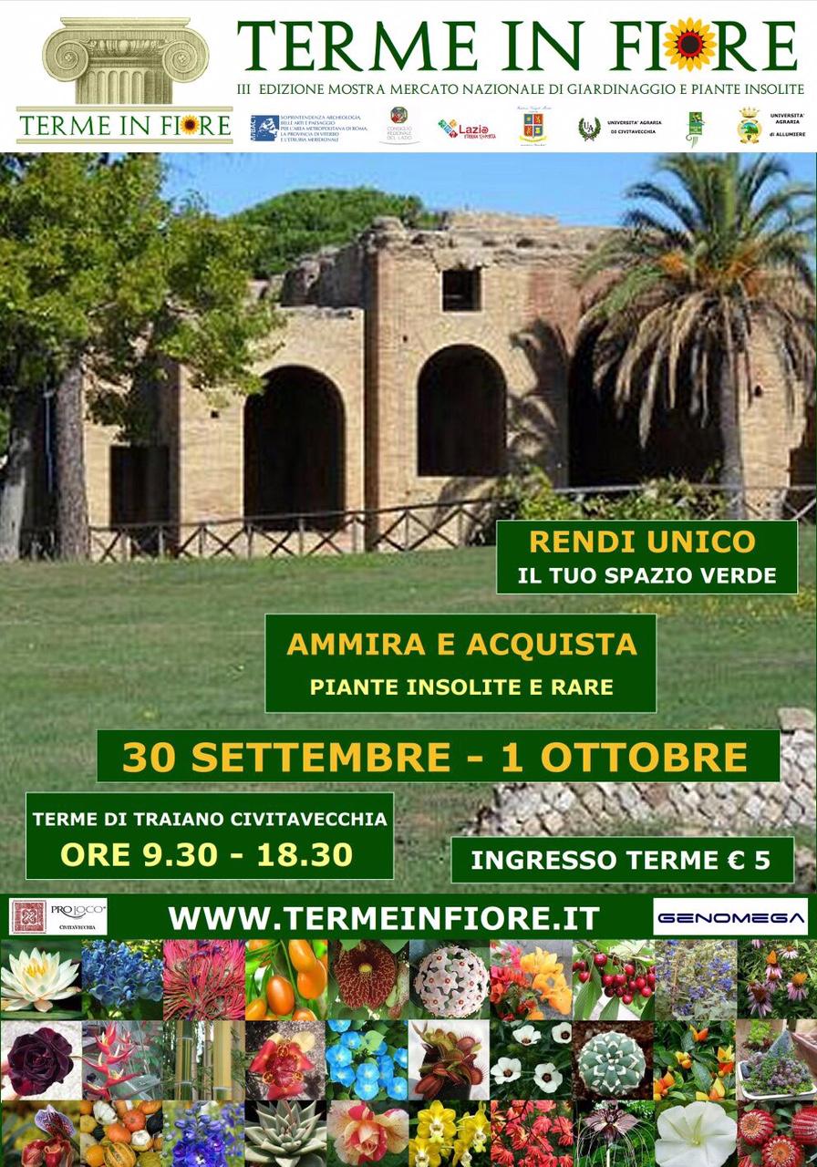 """III Edizione – Pro loco Roma Capitale """"Terme in Fiore, a Civitavecchia il festival delle piante insolite"""""""