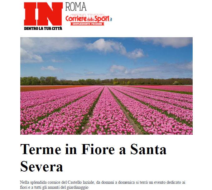 """Rassegna stampa VI edizione – Corriere dello Sport """"Terme in Fiore a Santa Severa"""""""