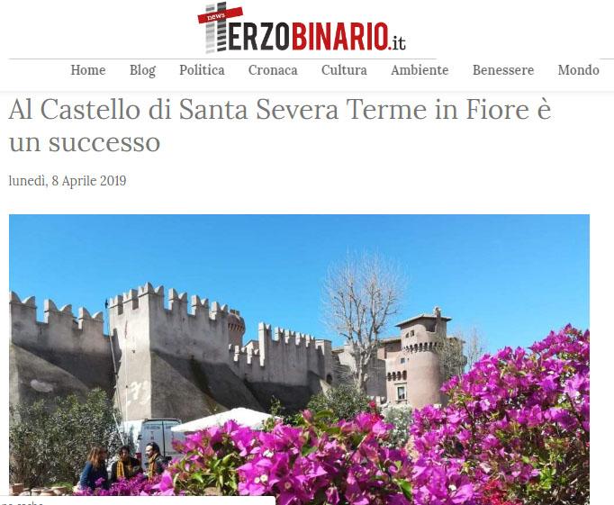 """VI edizione – TerzoBinario.it """"Al Castello di Santa Severa Terme in Fiore è un successo """""""